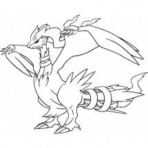 Coloriage Pokémon Reshiram