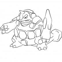 Coloriage Pokémon Rhinastoc