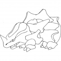 Coloriage Pokémon Rhinocorne
