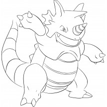 Coloriage Pokémon Rhinoféros