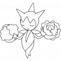 Coloriage Pokémon Rosélia