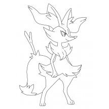 Coloriage Pokémon Roussil
