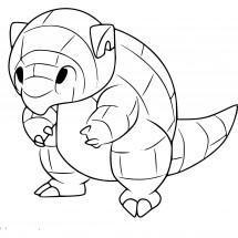 Coloriage Pokémon Sabelette d'Alola