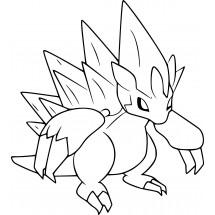 Coloriage Pokémon Sablaireau d'Alola