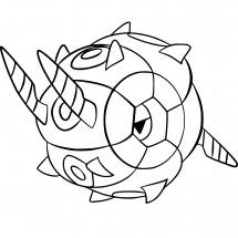 Coloriage Pokémon Scobolide