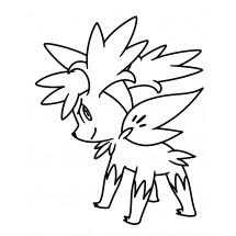 Coloriage Pokémon Shaymin forme Céleste