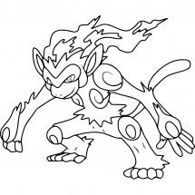 Coloriage Pokémon Simiabraz