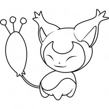 Coloriage Pokémon Skitty