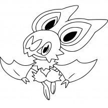 Coloriage Pokémon Sonistrelle