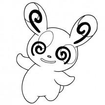 Coloriage Pokémon Spinda