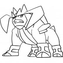 Coloriage Pokémon Terrakium