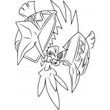 Coloriage Pokémon Tokorico