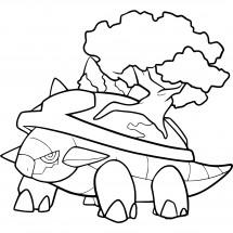 Coloriage Pokémon Torterra