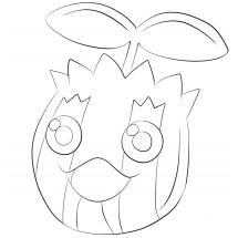 Coloriage Pokémon Tournegrin
