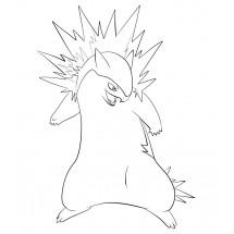Coloriage Pokémon Typhlosion