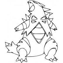 Coloriage Pokémon Tyranocif