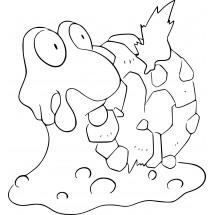 Coloriage Pokémon Volcaropod