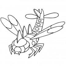 Coloriage Pokémon Yanmega