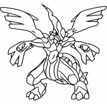 Coloriage Pokémon Zekrom