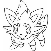 Coloriage Pokémon Zorua