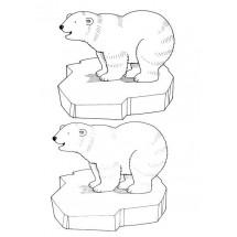 Coloriage Deux ours heureux