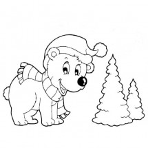 Coloriage Petit ours polaire