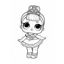 Coloriage Poupée Lol Miss Baby