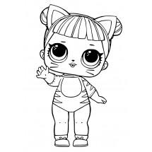 Coloriage Poupée Lol Baby Cat