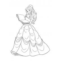 Coloriage Princesse Belle