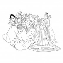 Coloriage Princesses Disney