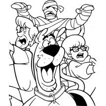 Coloriage Sammy, Vera, Scooby-Doo et une momie