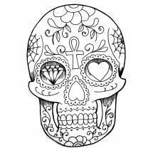 Coloriage Tatouage crâne