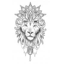 Coloriage Tatouage lion