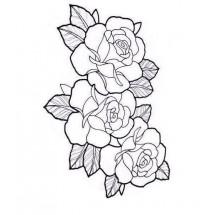 Coloriage Tatouage rose