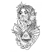 Coloriage Tatouage femme