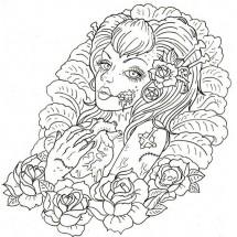 Coloriage Tatouage femme #2