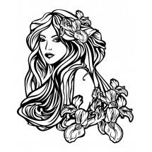 Coloriage Tatouage femme #3