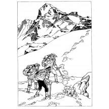 Coloriage Tintin au tibet