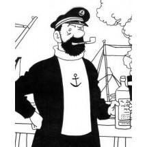 Coloriage Capitaine Haddock