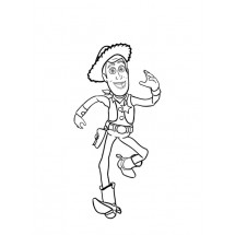 Coloriage Woody #2