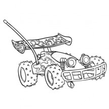 Coloriage Karting