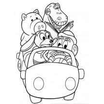 Coloriage Les jouets en voiture