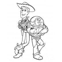 Coloriage Woody et Buzz