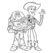 Coloriage Woody et Buzz #2