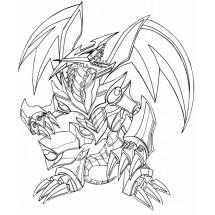 Coloriage Le dragon Métal aux yeux rouges