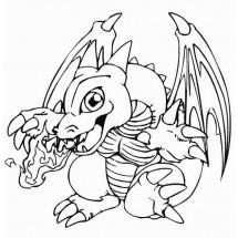 Coloriage Bébé dragon