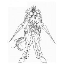Coloriage Gaïa le chevalier implaccable
