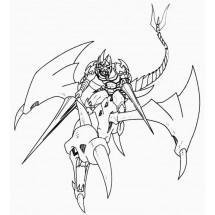Coloriage Gaïa le chevalier magique des dragons